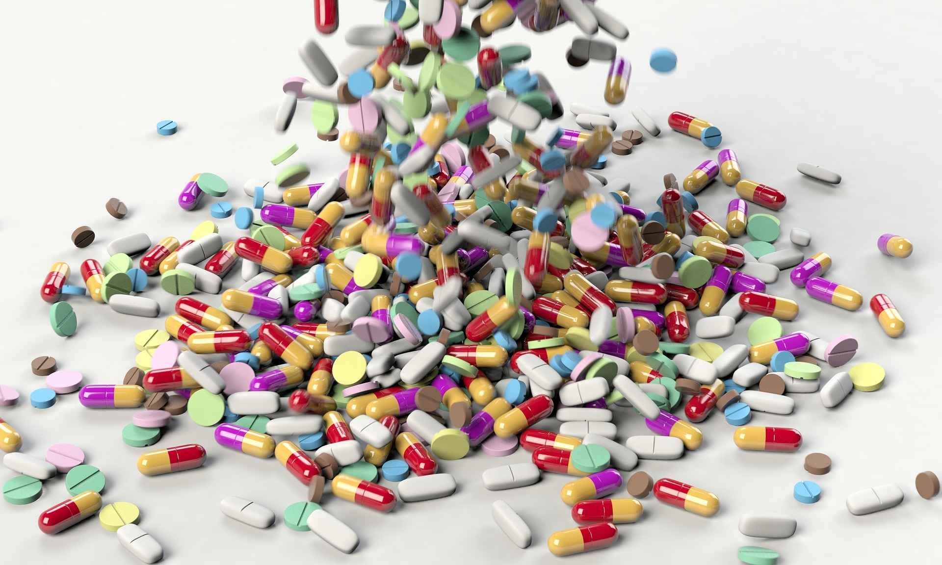 a mound of pills and medication